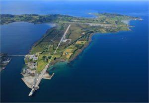 Die Insel Vigra von oben
